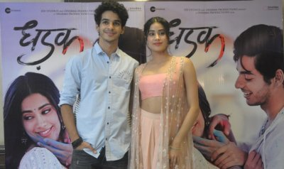 Dhadak cast Janhvi Kapoor and Ishaan Khatter witnessed in Delhi for the promotions