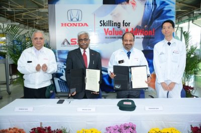 Honda Cars India signs MoU with  Automotive Skill Development Council (ASDC)