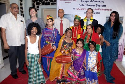 Australian Consul General Tony Huber inaugurated Solar Power system at Cheshire Homes, Andheri East.