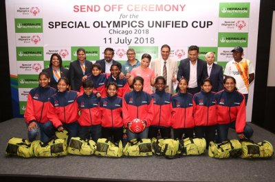 Herbalife Nutrition partners with the Special Olympics Bharat Athletes for   Special Olympics Unified Cup 2018