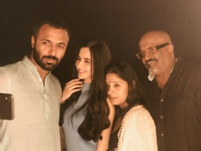 TV Actress Sanjeeda Shaikh Shooting for a Hair Brand