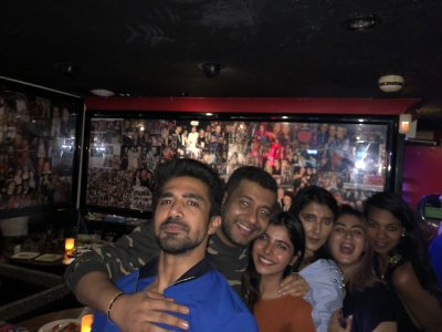 Saqib Saleem and Avi Mittal party